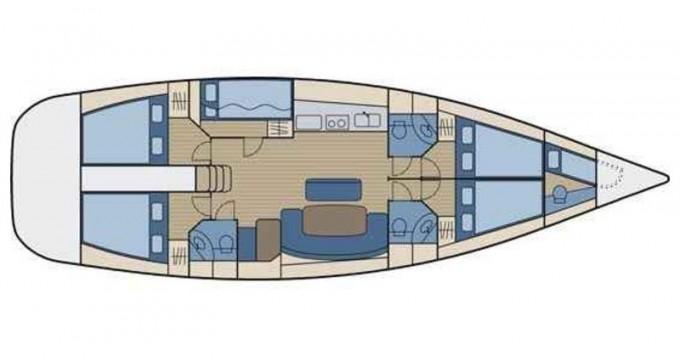 Rental yacht Μαρίνα Αλίμου - Bénéteau Cyclades 50.5 on SamBoat