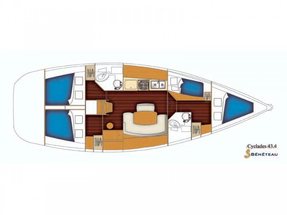 Location yacht à Šolta - Bénéteau Cyclades 43 sur SamBoat
