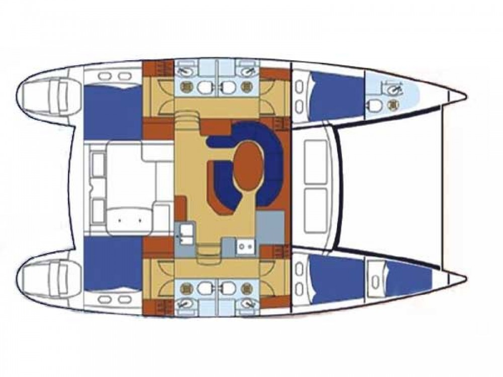 Location Catamaran à Μαρίνα Αλίμου - Lagoon Lagoon 410