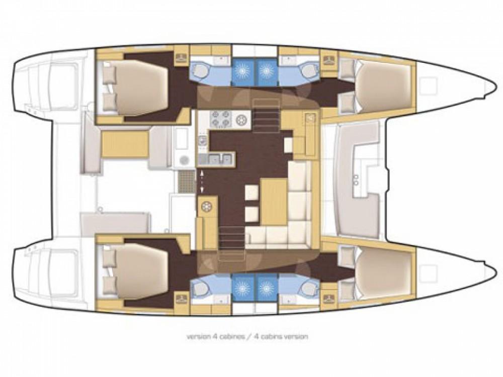 Location bateau Sant Antoni de Portmany pas cher Lagoon 450