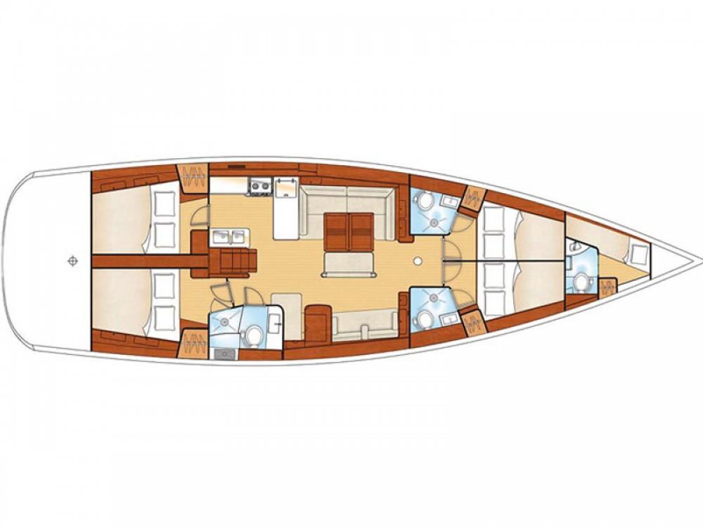 Location yacht à Marina de Alimos - Bénéteau Oceanis 54 sur SamBoat
