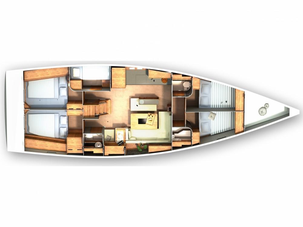 Location bateau Hanse Hanse 505 à Marina Kaštela sur Samboat