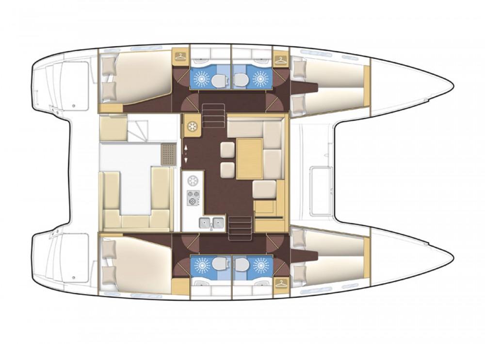 Location bateau ACI Marina Dubrovnik pas cher Lagoon 400 S2