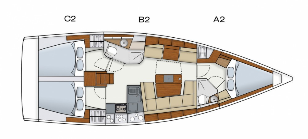 Location bateau Hanse Hanse 415 à Marina Medulin sur Samboat