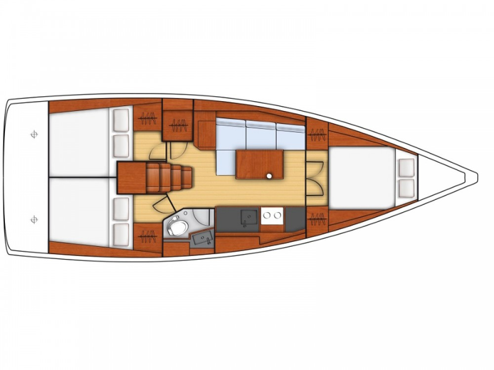 Boat rental Marina Kaštela cheap Oceanis 38.1