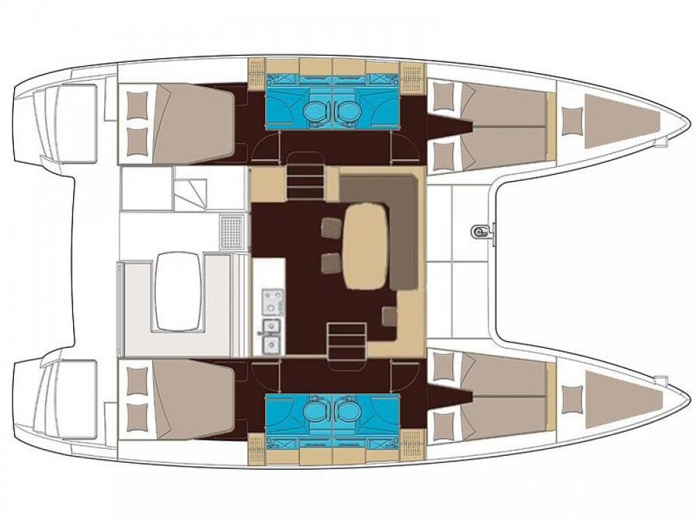 Location bateau Lagoon Lagoon 400 à San Vincenzo sur Samboat