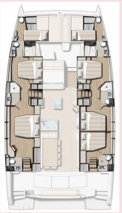 Rental yacht Attica - Catana Bali 5.4 - 5 + 2 cab on SamBoat