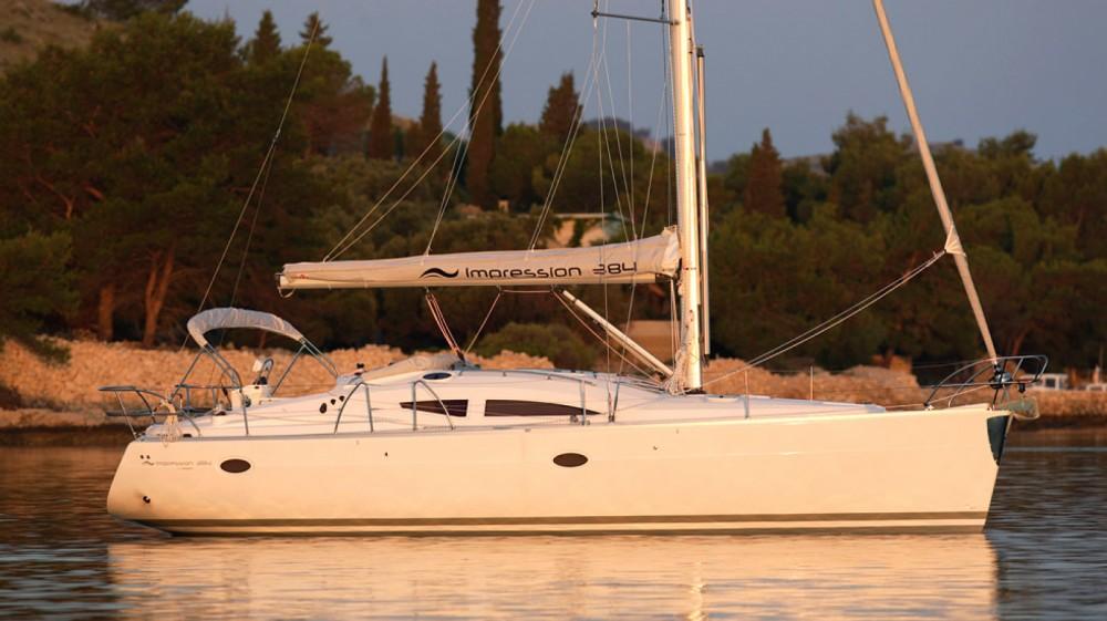 Boat rental Lávrio cheap Elan 384