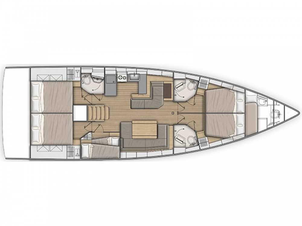 Rental yacht Furnari - Bénéteau Oceanis 51.1 on SamBoat