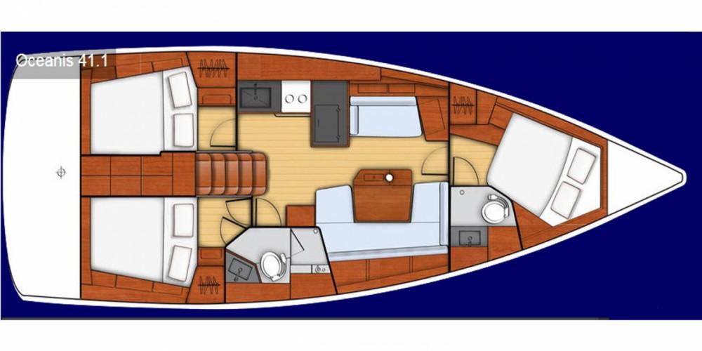 Boat rental Bénéteau Oceanis 41.1 in Lefkada on Samboat