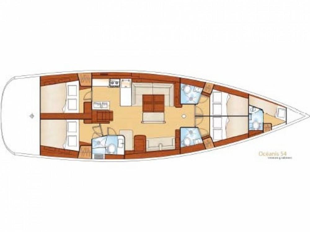 Boat rental Mykonos cheap Oceanis 54