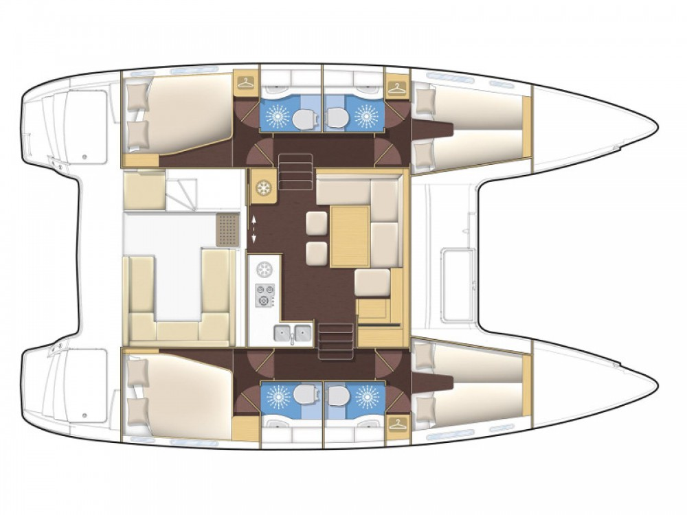 Location yacht à Sant Antoni de Portmany - Lagoon Lagoon 400 S2 sur SamBoat