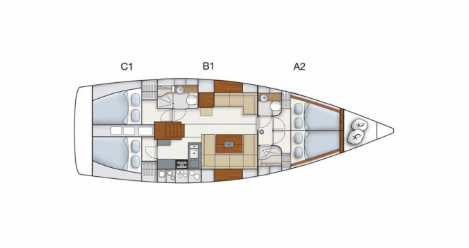 Louez un Hanse Hanse 445 à ACI Marina Dubrovnik