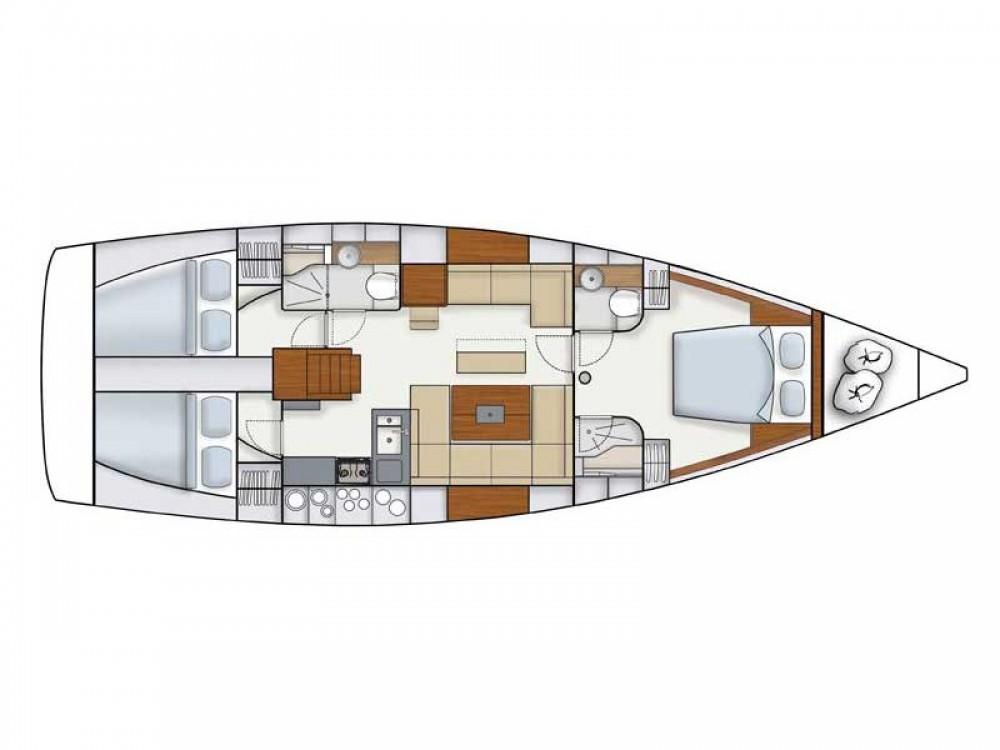 Rental yacht ACI Marina Dubrovnik - Hanse Hanse 445 on SamBoat
