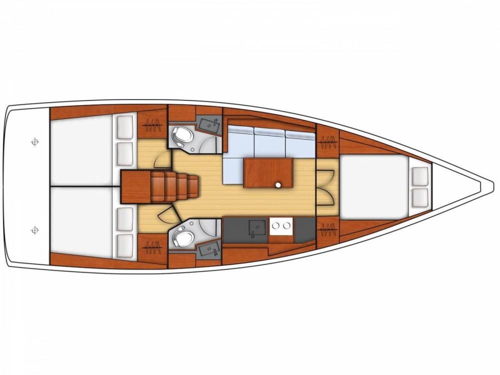 Rental Sailboat in ACI Marina Dubrovnik - Bénéteau Oceanis 38.1
