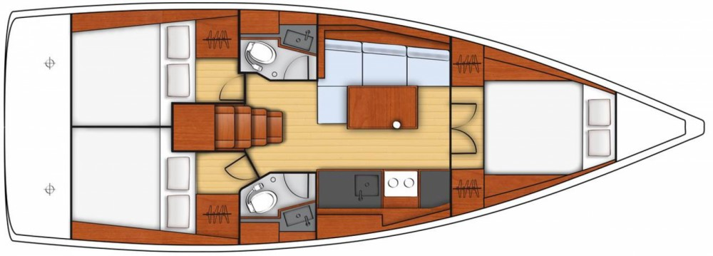 Rental Sailboat in ACI Marina Trogir - Bénéteau Oceanis 38.1