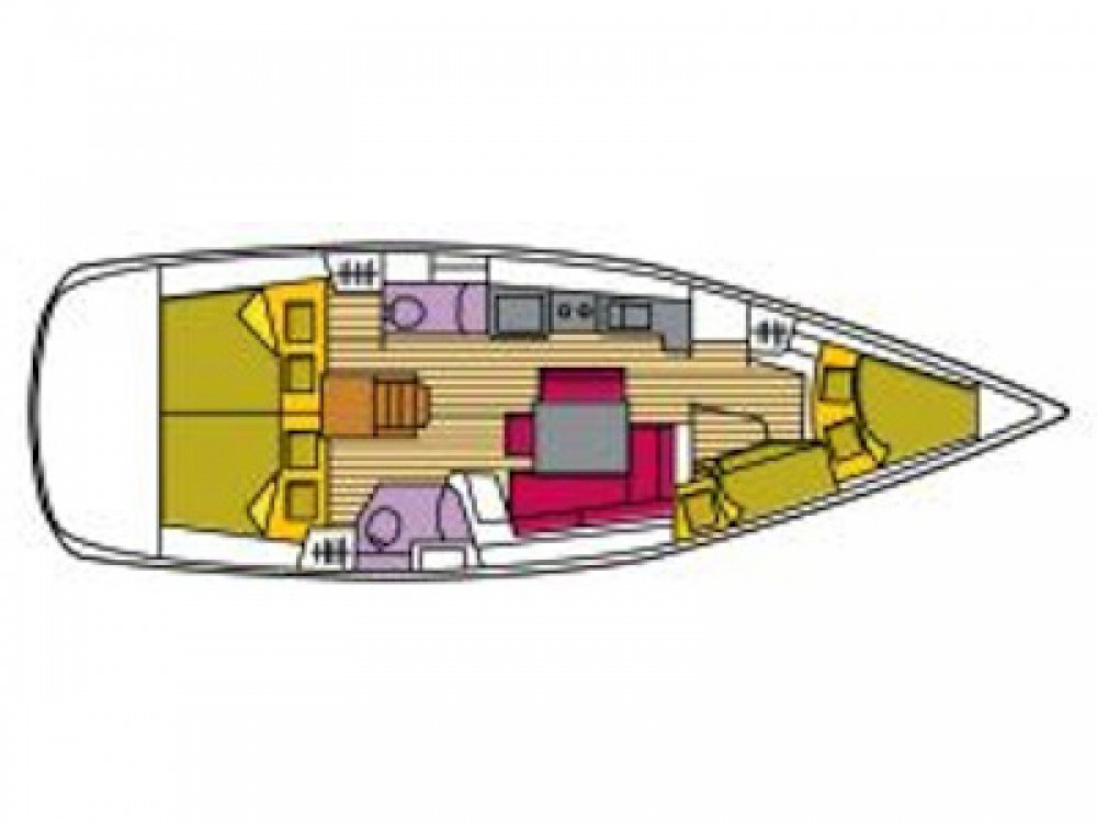 Boat rental Grenada Yacht Club cheap Oceanis 43