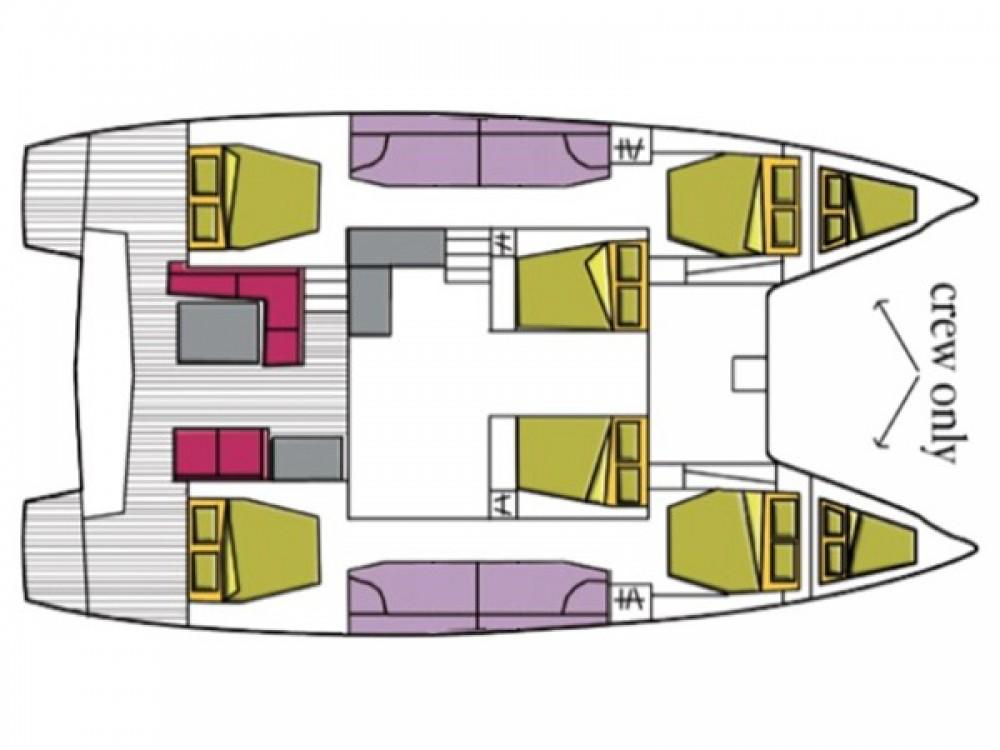 Hire Catamaran with or without skipper Lagoon Cala dei Sardi