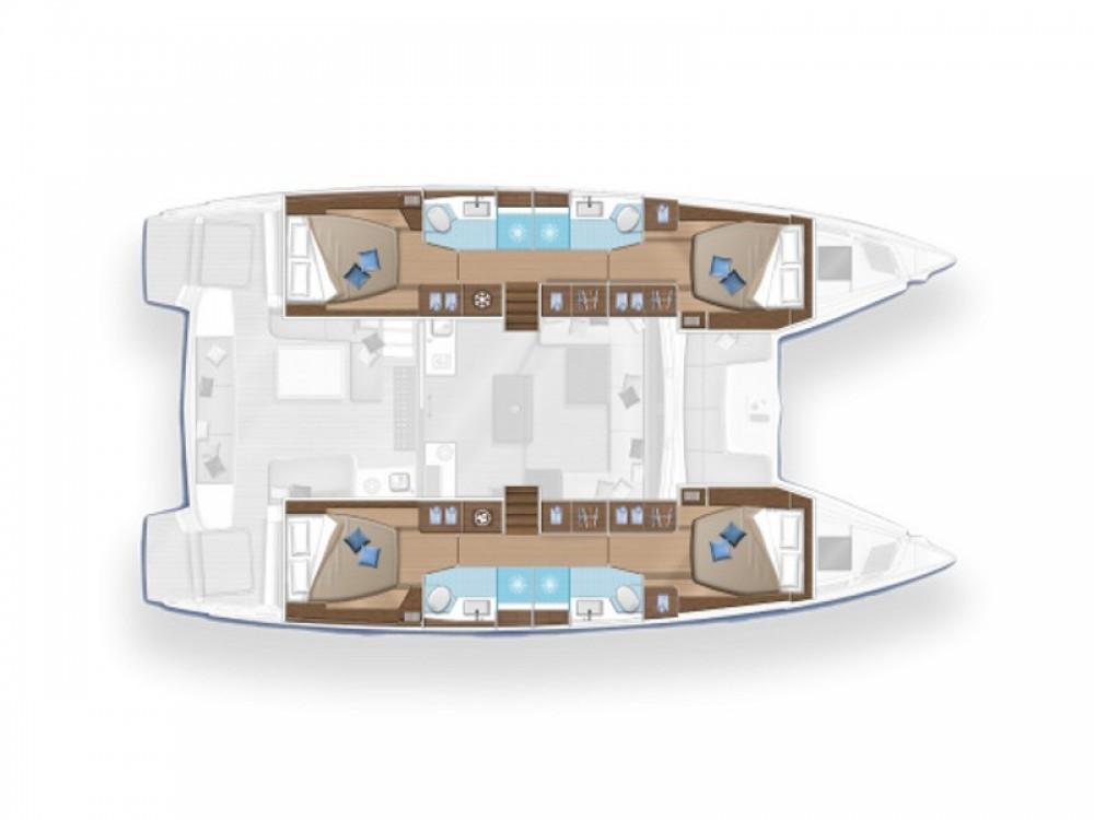 Boat rental Le Marin cheap Lagoon 50