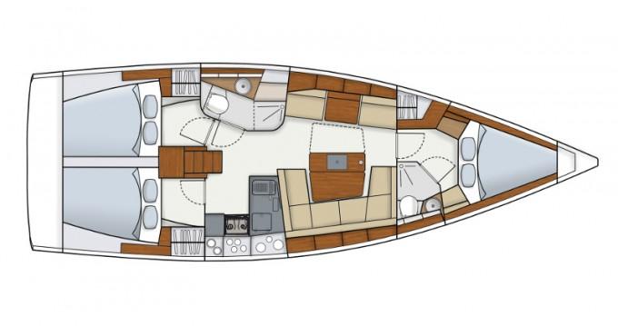 Location yacht à Sant Antoni de Portmany - Hanse Hanse 415 sur SamBoat