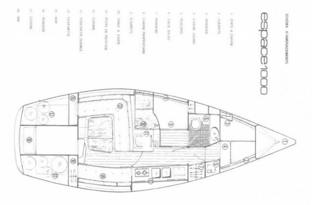 Location bateau Jeanneau Espace 1000 à Port-de-Bouc sur Samboat
