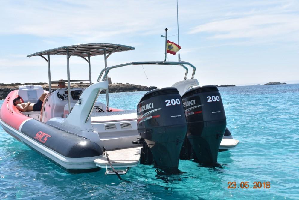 Verhuur Rubberboot in Ibiza - Sacs Samurai 875