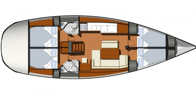 Location bateau Jeanneau Sun Odyssey 44i à Álimos sur Samboat