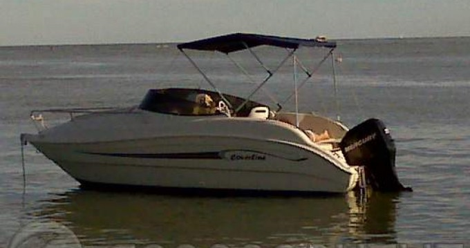 Rental Motor boat Coverline with a permit