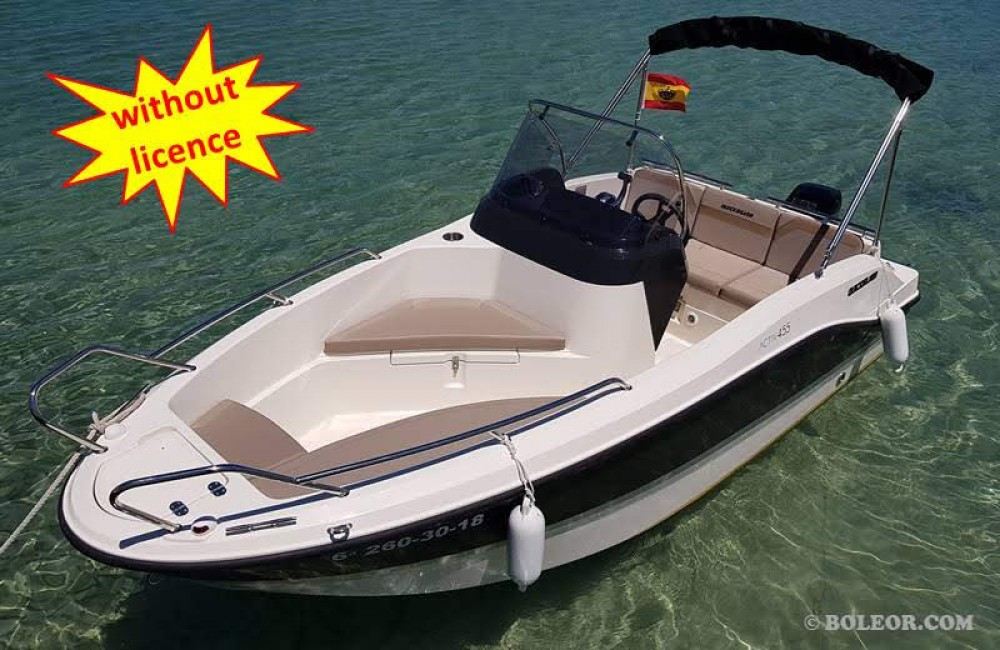 Boat rental Quicksilver B455 'Theia' (without licence) in Palma on Samboat