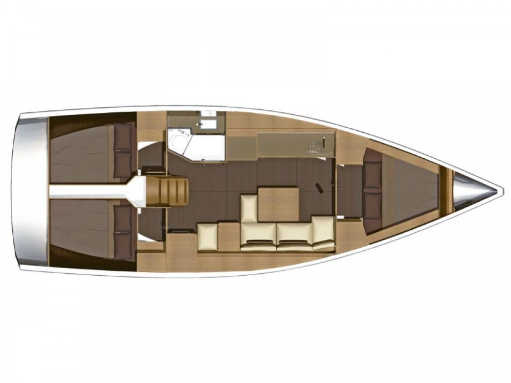 Boat rental Dufour Dufour 382 Grand Large in Raslina on Samboat