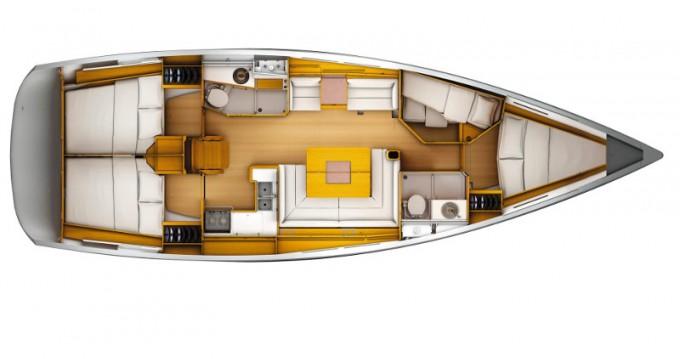 Location bateau Jeanneau Sun Odyssey 449 à ACI Marina Dubrovnik sur Samboat