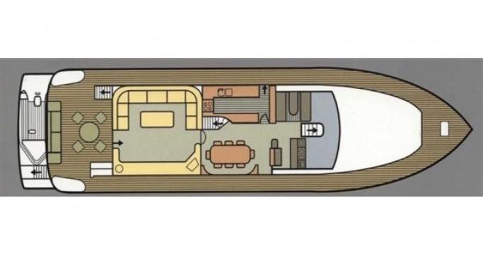 Location bateau Ferretti Ferretti 75 à Μαρίνα Φλοίσβου sur Samboat