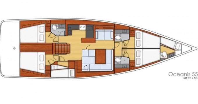 Location bateau Bénéteau Oceanis 55 à Marina d'Arechi sur Samboat