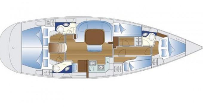 Location bateau Leucade pas cher Bavaria 49
