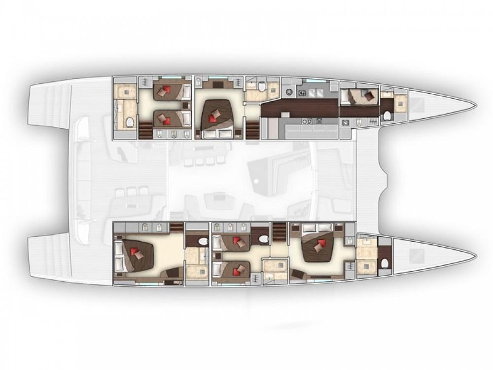 Verhuur Catamaran in Marina Kaštela -  Lagoon Seventy 7