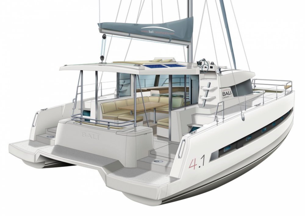 Verhuur Catamaran in Trogir - Catana Bali 4.1 - 4 cab.
