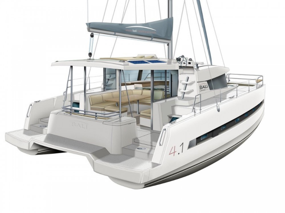 Huur Catamaran met of zonder schipper Bali in Marina d'Arechi