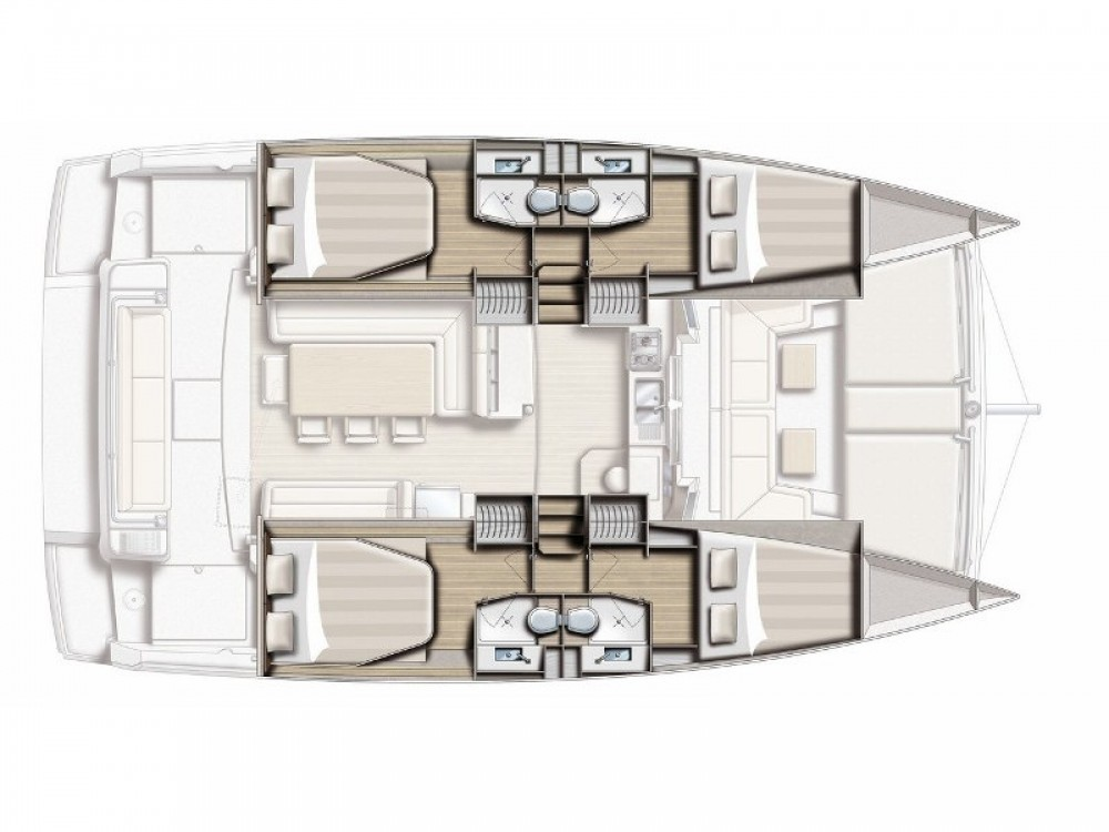 Huur Catamaran met of zonder schipper Bali Catamarans in Leucade