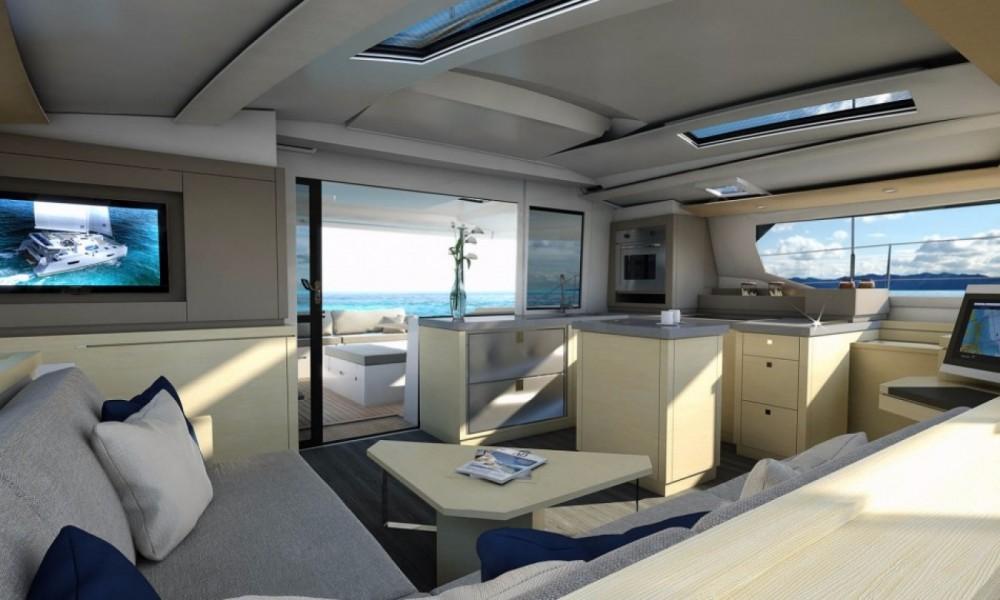 Verhuur Catamaran in Baie Sainte Anne - Fountaine Pajot New 47