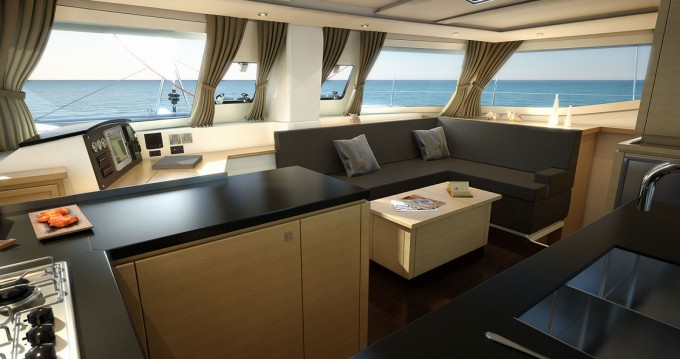 Rental Catamaran Fountaine Pajot with a permit