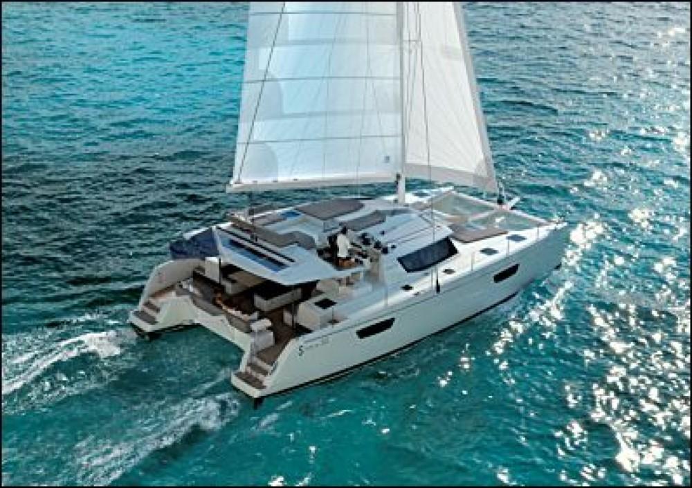 Verhuur Catamaran in Road Town - Fountaine Pajot Saba 50
