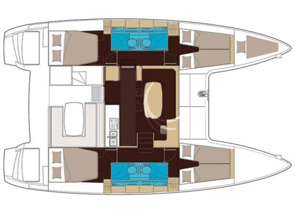 Rental yacht Marina de Alimos - Lagoon Lagoon 400 S2 on SamBoat