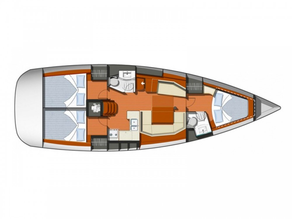 Jeanneau Sun Odyssey 42i between personal and professional Marina de Alimos