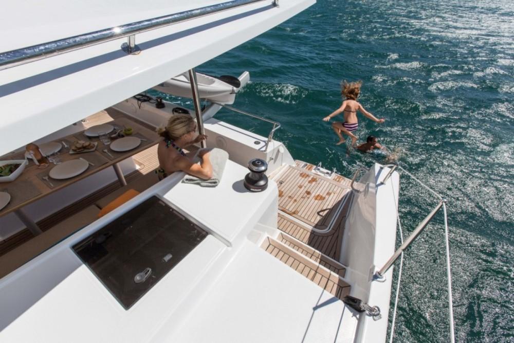 Rental Catamaran in Rodney Bay Marina - Fountaine Pajot Helia 44