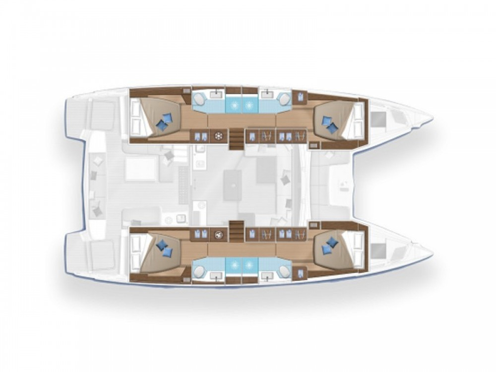 Boat rental Victoria cheap Lagoon 50 - (Skipper incl.)