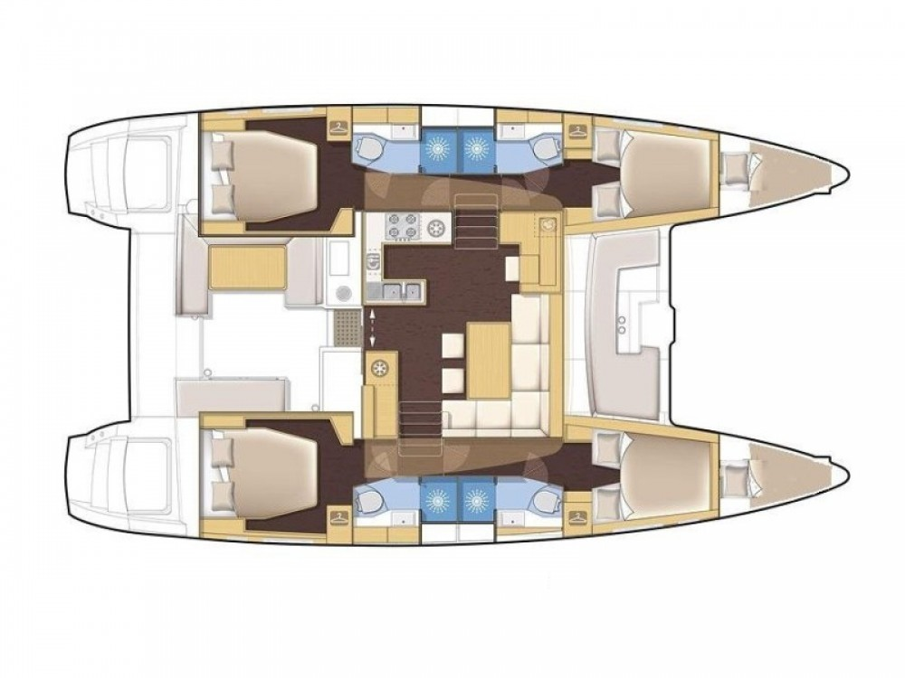 Rental yacht Marina Gouvia - Lagoon Lagoon 450 on SamBoat