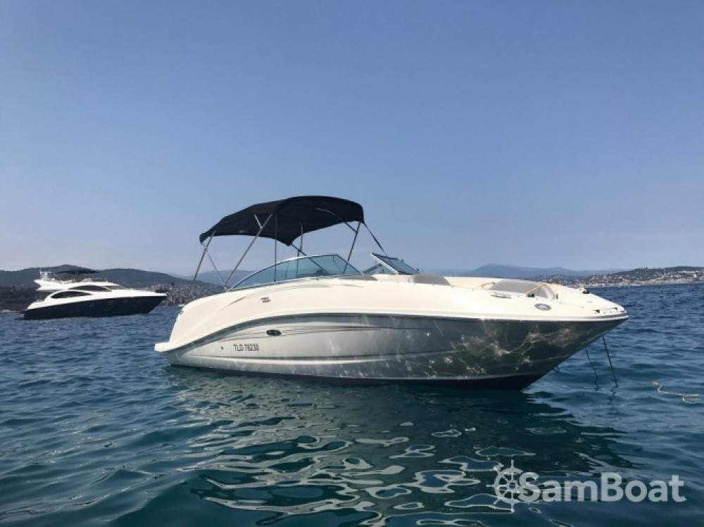 Boat rental Mandelieu-la-Napoule cheap Sea Ray 260 Sundeck