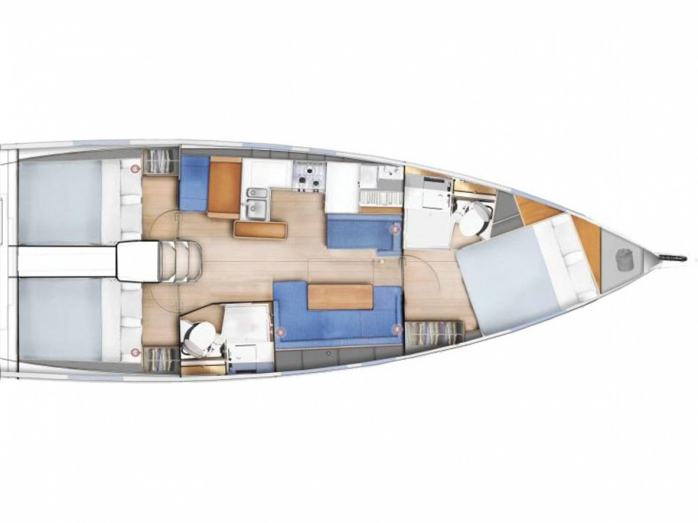 Rental yacht Orhaniye - Jeanneau Sun Odyssey 410 on SamBoat