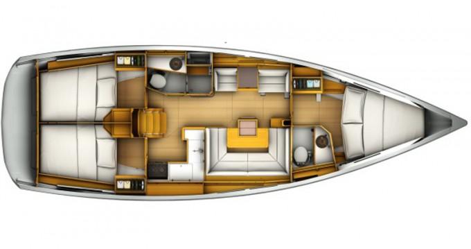 Location bateau Jeanneau Sun Odyssey 419 à Rhodes sur Samboat