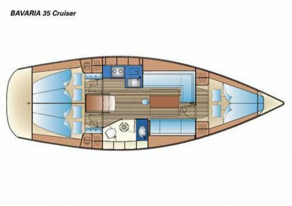 Hire Sailboat with or without skipper Bavaria Cattolica